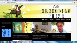 Croc Prize home page