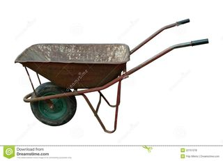 Old wheelbarrow (dreamstime.com)