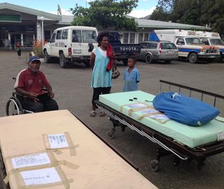 Special beds arrive for Francis Nii at Kundiawa General
