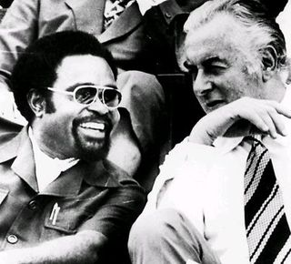 Michael Somare & Gough Whitlam 1975