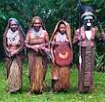Pajo tribal chief with wives