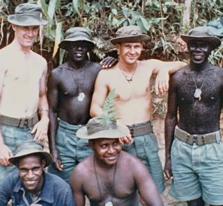 Australian and Papua New Guinean soldiers at Kerema in the 1960s