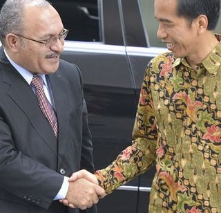 Peter O'Neill and Joko Widodo