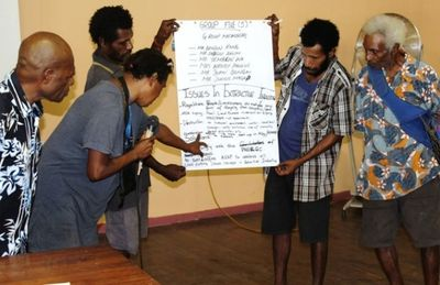 Madang locals make a presentation at the first EITI forum in November