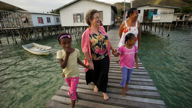 Dame Carol Kidu at her home village in Port Moresby in 2011 (Jason South)