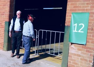 After 67 years, Bill Brown & Phil Ainsworth inspect an old ASOPA lecture room