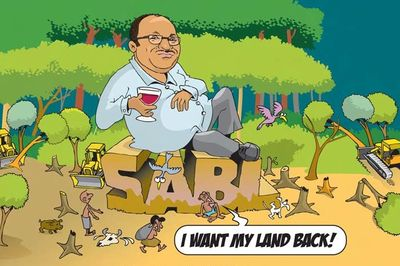 SABL Billboard cartoon