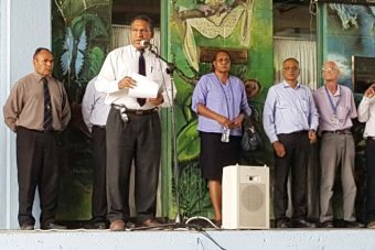 Dr Nicholas Mann & other UPNG leaders