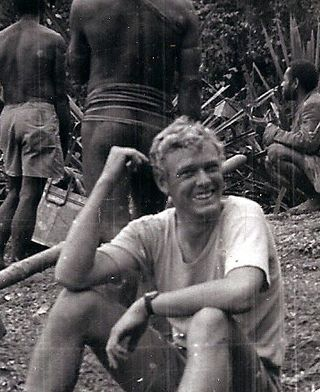 Phil on patrol in the Star Mountains, early 1970s