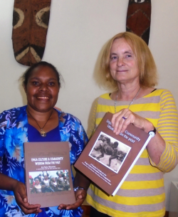 Ruth Minape, a schools cultural education coordinator, with Professor Polly Wiessner