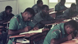 PIR students at Taurama Barracks, Port Moresby, 1968