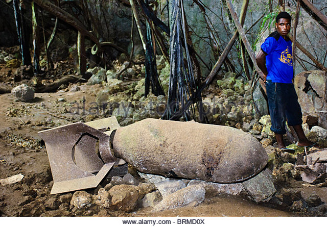Unexploded bomb, West Papua