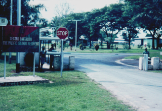 Entrance to Moem Barracks, 1970