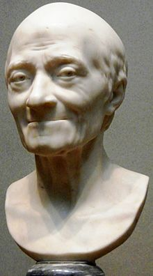 Voltaire, by Jean-Antoine Houdon, 1778. National Gallery of Art