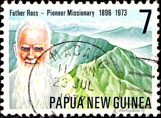 Fr Ross honoured in a PNG postage stamp