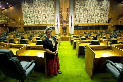 Dame Carol Kidu was once the only woman member of parliament