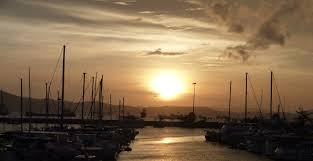 Mosbi sunset from Royal Papua Yacht Club
