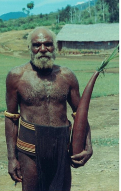 Mul Baiyer man with drinking water gourd  1974