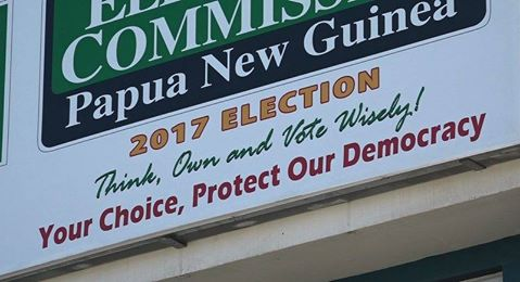 Electoral commision sign