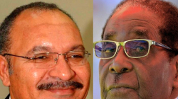 1 robert mugabe and peter o'neill (PNG Blogs)
