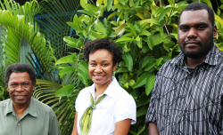BCL's community engagement team in Bougainville