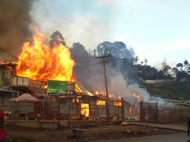 Wabag town still gripped in election violence