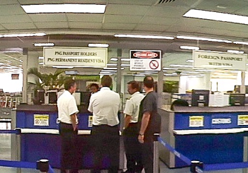Immigration at Jacksons Airport