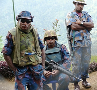 PNG police officers
