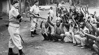 British colonial police and Kenyan suspects