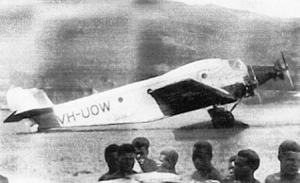 Junkers aircraft serviced the Lae- Bulolo route