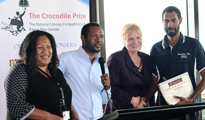 Martyn Namorong hosts the Crocodle Prize awards