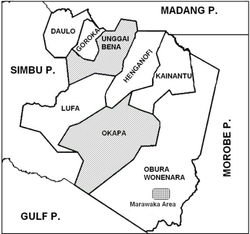 Eastern Highlands showing Okapa District
