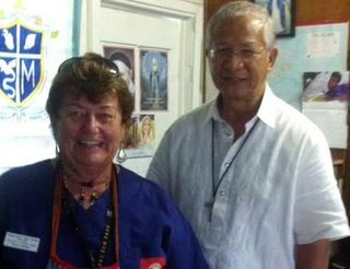 Wendy Stein and Bishop Rolando Santos