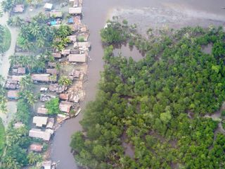 Squatter Settlement in west Wewak harbour area