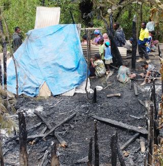 3 infants die as house burns to ground
