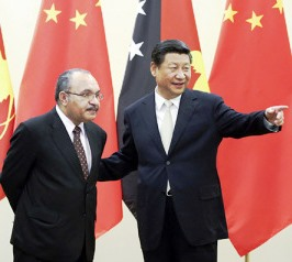 Peter O'Neill with Xi Jinping