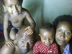 Bomai Witne & his family