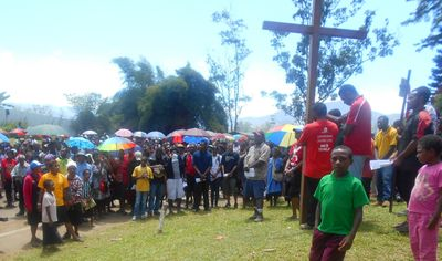 Stations of the Cross in Goroka
