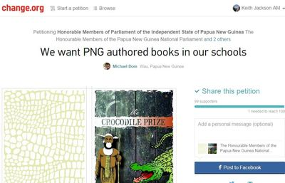 Petition screen grab