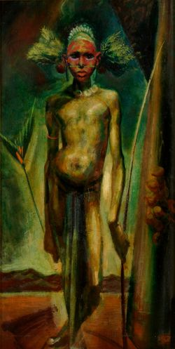 William Dobell, Boy with a bow (Newcastle Art Gallery Collection, 1953)