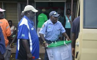 Bougainville ballot boxes being transported for counting