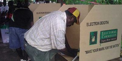 Voting in Bougainville