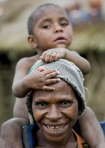 Mother and son, Mt Hagen