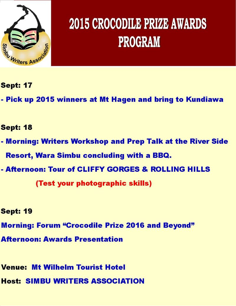 2015 Crocodile Prize Awards Program