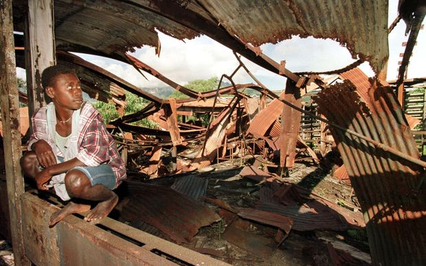 Ruins of Arawa Hospital in 1997 (AFP)