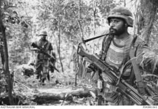 PNG peacekeepers in Bougainville, 1999 (AWM)