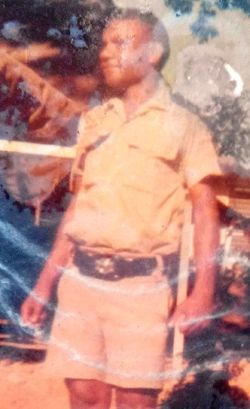 Chief Inspector Joseph Muso Sigimet (retired) as a cadet, 1973