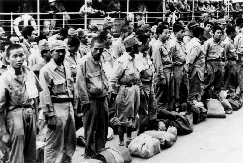 Japanese prisoners arriving at Brisbane from New Guinea,