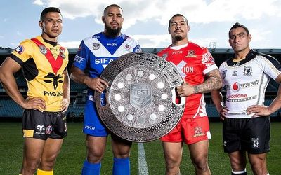 Captains of PNG, Samoa, Tonga and Fiji at the Pacific Test (National Rugby League)