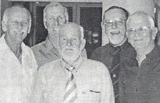 Don Williams (centre) and ASOPA pals
